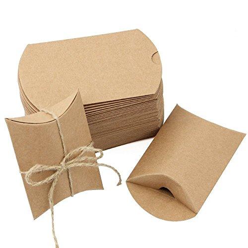 JTDEAL Vintage Gastgeschenke, Geschenke Boxen, Geschenkverpackung, Kraft Papier Geschenk Box für Süßigkeiten, Schmuck, Nuss, Schokolade, 50 Stück