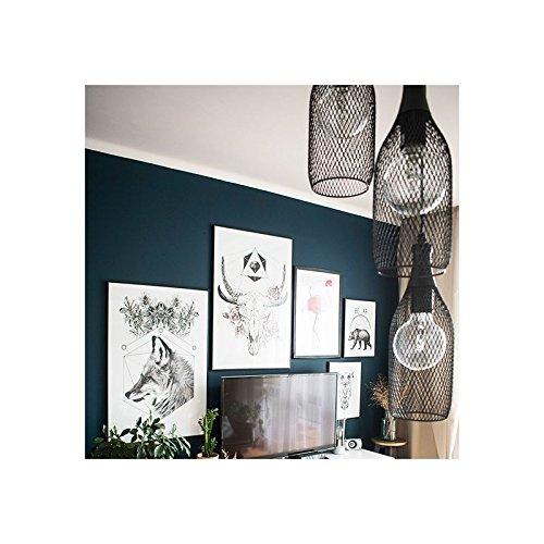 Luminaire industriel Highlight 3 lampes suspension loft