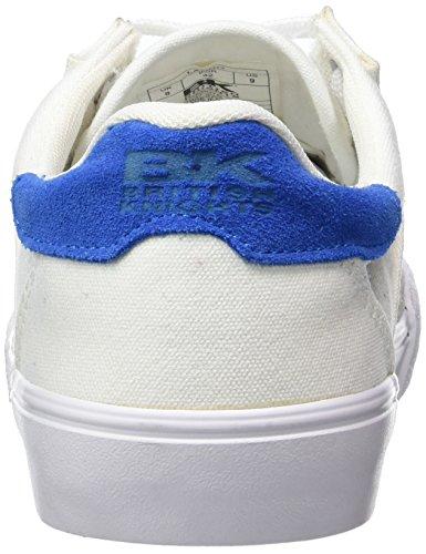 British Knights Lando, Baskets Basses homme Blanc - Weiß (White-Royal Blue 04)