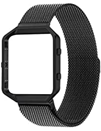 House of Quirk Milanese Loop Bracelet Strap for Fitbit Blaze Band Stainless Steel (Watch NOT Included) - Black