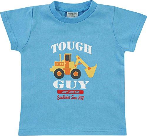 Boley T-Shirt mit Druckmotiv Single-Jersey hellblau/gelb Größe 80