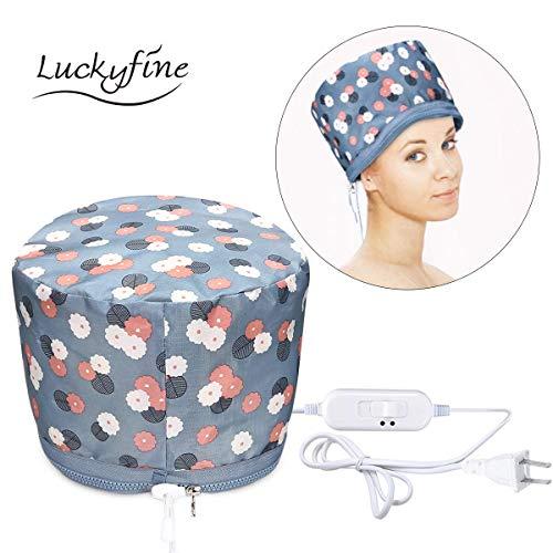 Cura dei capelli, trattamento per capelli caldo Luckyfine vapore portatile cappello di bellezza SPA cappello vapore capelli nutrizionali (spina europea)