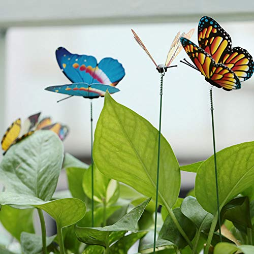 Sedeta 45 STÜCKE Zufällige Farbe 3D Schmetterling Weihnachten Garten Ornament Rasen Dekoration Stakes Außen Hof Pflanzer Blumentopf Bett Garten Decor Kunst DIY Frühling gefühl Kreative
