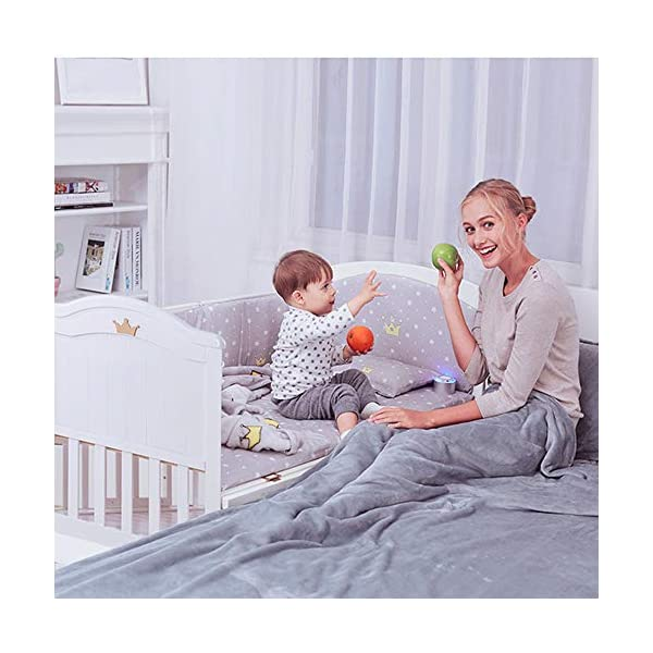 VBARV Multifunctional cradle bed-three-in-one stitching large bed solid wood crib, pine oversized children's play bed, bedroom furniture suitable for children aged 0-12 VBARV Non-toxic environmental protection material, no sharp fixing device, external dimensions are 125x72x104cm. Side-open fence, drowsy, easy to care for babies and able to hug in and out; can be spliced   into a large bed for easy feeding. The bed has four positions and is adjustable in height. The bed can be turned into a playground, cradle bed, sofa, desk, and is a multifunctional bed. Easy to clean and maintain: The surface of the crib can be wiped with a damp cloth to remove dust or dirt from the surface. 8
