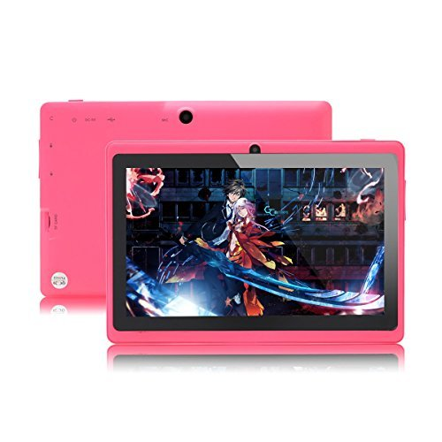 JYJ 7″ Zoll Android Google Tablet PC 8GB 4.2.2 WiFi Dual Core Dual Camera Capacitive Touch Screen Allwinner A23 DDR3 1.5GHz 512MB Rose