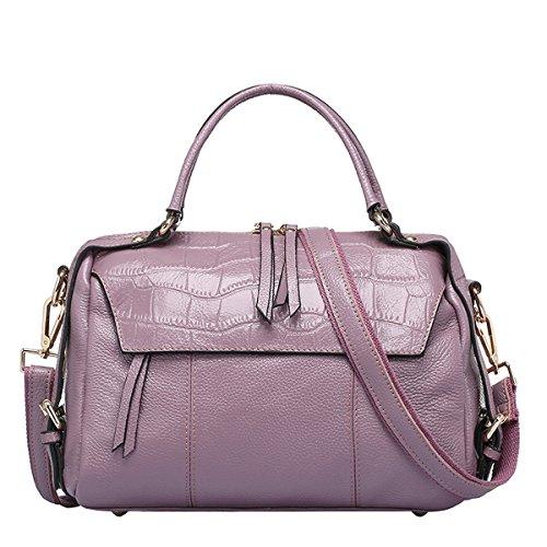 Valin Q0715 Damen Leder Handtaschen Top Handle Satchel Tote Taschen Schultertaschen,29x13x21 B x T x H (cm) Rosa