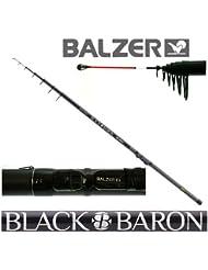 Balzer Black Baron Canne à pêche Télescopique Brochet 6,50m