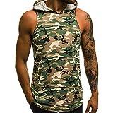 Tank Top Herren Hoodie Kanpola Camouflage T Shirt Slim Fit Basic Print Sweatshirt Kurzarm Unterhemd Mit Kapuze Muskelshirt