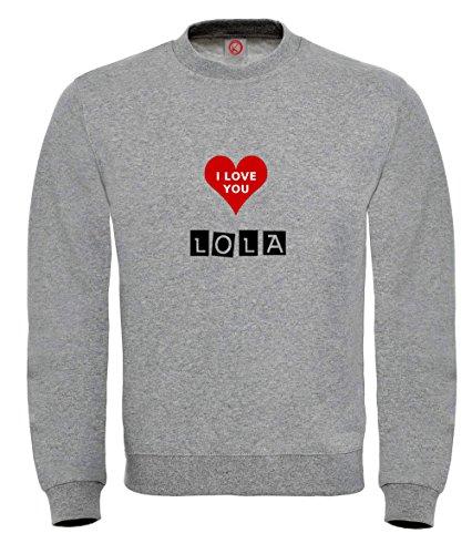 Felpa Lola - Print Your Name Black
