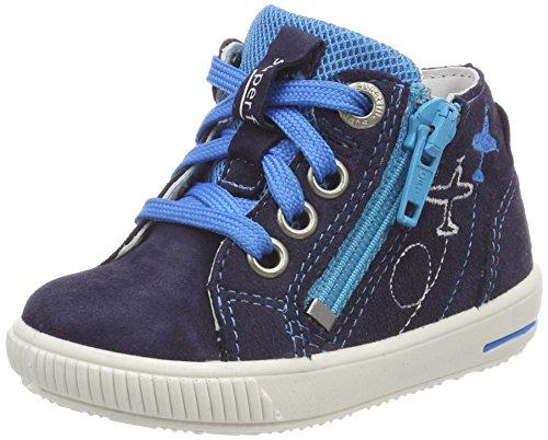 Superfit Baby Jungen Moppy Sneaker, Blau (Ocean Kombi), 28 EU