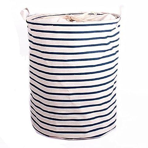 YINGMO 14×14×18 Pouces Pliant Coton Mélangé Tissu Blanchisserie Boîte de Rangement Panier Jouets