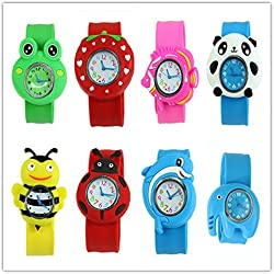 Viskey Children 3D Animals Cartoon Bendable Plastic Strap Watches