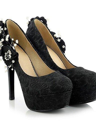 ShangYi Chaussures Femme - Mariage / Bureau & Travail / Habillé / Décontracté - Noir / Rouge - Talon Aiguille - Talons - Talons - PVC / Similicuir Red