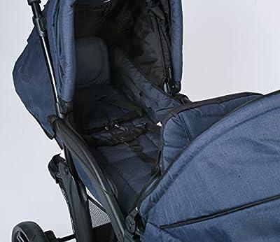 CHIC 4Baby 27352Carrito Doppio, Jeans Marina, color azul