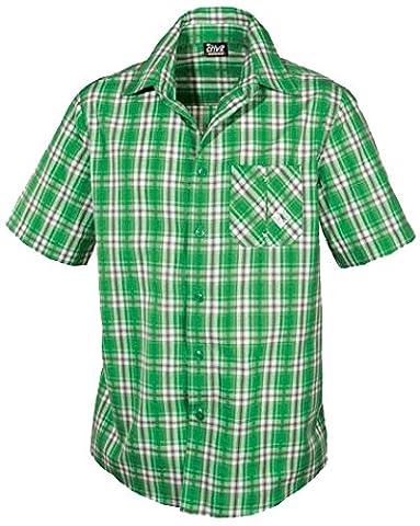 CRIVIT® Herren Trekkinghemd (grün/grau kariert, Gr. M - 48/50)