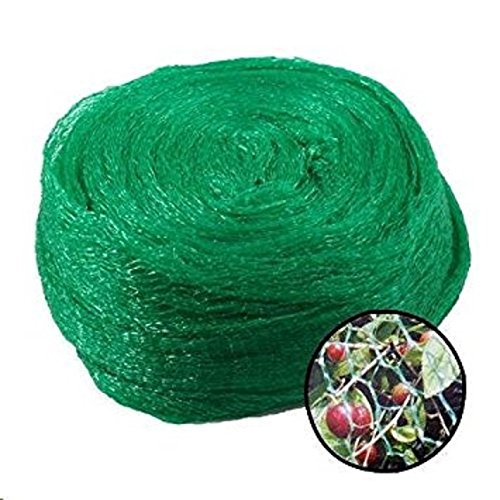 KRIWIN Anti Bird Agro Net with 70 Cable Clips, (Green) 30 x 10 FT, 300 Sq Ft