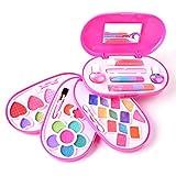 Trousse di trucchi per bambine Deardeer, cosmetici e trucchi giocattolo alla moda, cofanetto di bellezza con specchio interno, sicurezza testata, lavabili