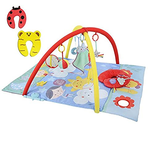 Eastcoast 4in1 'Say Hello' Discovery Sensory Play Mat/Gym with Music & Lights - Incs 2 Safety