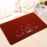 Sucastle Bagno soggiorno cucina stuoia tappetino poliestere Rosso (gatto nero) 40*60cm
