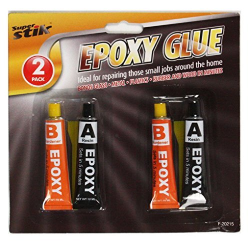 2x 2x Epoxy Kleber Set-Super Starker Halt in nur 5Minuten, Granulat und Härtemittel, geeignet zum Bond Glas/Keramik/Stoff/Metalle/Kunststoffe-Mehrzweck-Set ideal, um in Werkzeugkasten