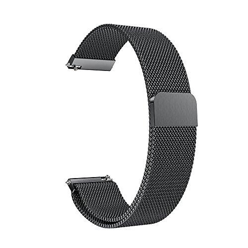 für Garmin vivoactive 3 Uhrenarmband,Hongtianyuan Metallarmband Ersatzarmbänder Ersatzarmband Erweiterbar Armband für Garmin vivoactive 3 (Schwarz) - Bänder Herren-erweiterbar-uhr