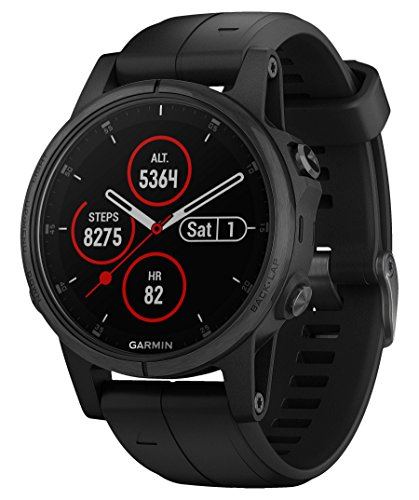 Garmin Montre Fenix 5S Plus SmartWatch Noir Music 42 mm Sapphire 010 – 01987 – 03