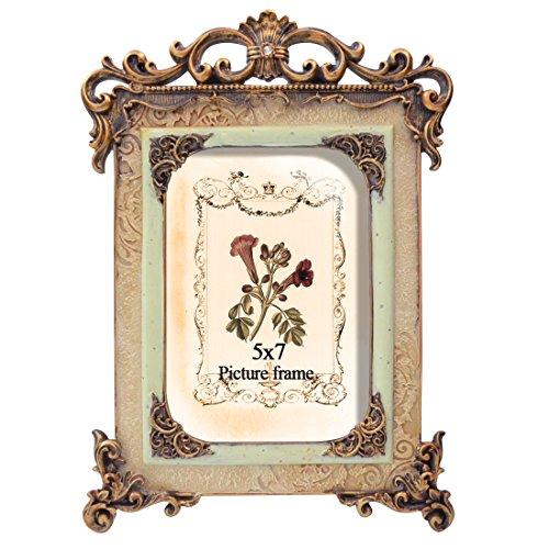 Umi. by Amazon - antiker Bilderrahmen für Bilder 13x18cm shabby chic Dekorahmen