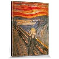 1art1® Edvard Munch - El Grito, 1893 Cuadro, Lienzo Montado Sobre Bastidor (80 x 60cm)