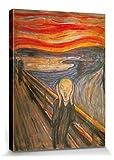 1art1 82969 Edvard Munch - Der Schrei, 1893 Leinwandbild Auf Keilrahmen 80 x 60 cm