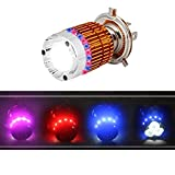 #1: EASY4BUY H4 Flasher Ring High-Low Beam Motorcycle/Scooty Headlgiht Led Bulb for Hero Passion Pro