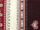 Minerva Crafts Weihnachten Herzen Grenze Print Baumwolle
