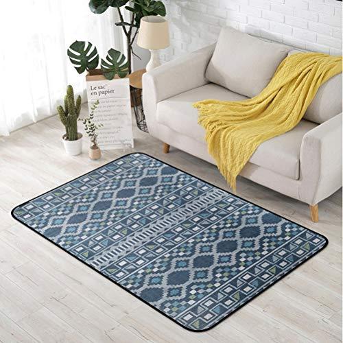 RUG LUYIASI- Teppiche für Wohnzimmer Bettwäsche Zimmer Flur große rechteckige Fläche Yoga Matten Moderne Outdoor Boden Teppich Home Decor Non-Slip mat (Color : C, Size : 100CM×150CM) (Blumen Moderne Teppich)