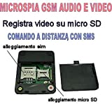 X009 Version 2.5 Kamera mit Mini GSM Modul gesteuert durch SIM Karte per Smartphone, Fotos Videos Ton aufnehmen, Standor