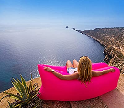 Inflatable Sofa with Parasol Waterproof Outdoor Portable Inflatable Bed Air Bed Sleeping Sofa, Beach, travel, camping - low-cost UK light shop.