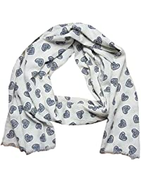 Scarves Hearts Print Scarf Women Shawl Large Size