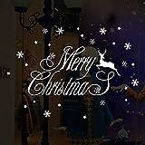 1 Stück Weihnachtsdeko 44 x 31cm Merry Christmas Schaufensterdekoration PVC Weihnachtssticker Wandaufkleber Shop Fenster Dekoration Wand Abnehmbare Aufkleber Weihnachten Glocken