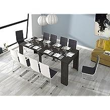 Habitdesign (004580G) - Mesa de comedor consola extensible a 237 cm, color Ceniza, medidas cerrada 90 x 78 x 51 cm de fondo