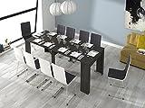 Habitdesign (004580G) - Mesa de comedor consola extensible a 237 cm, color Ceniza, medidas cerrada...