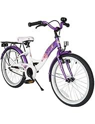 BIKESTAR® 50.8cm (20 pulgada) Bicicleta para un paseo tranquilo y seguro para niños de 6 años ★ Edición Clásico ★ Violeta Lila & Blanco