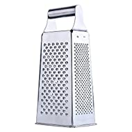 grater - TOOGOO(R)Stainless Steel 4 Sided Box Grater (Silver)