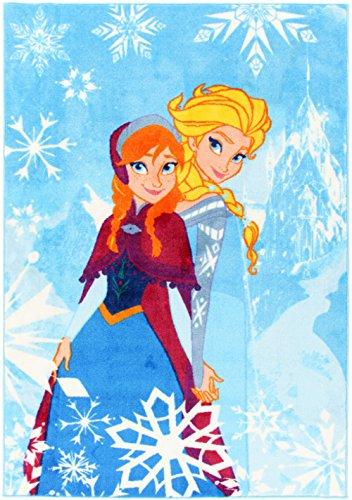 Alfombra Disney Frozen invierno 80 x 140 cm azul