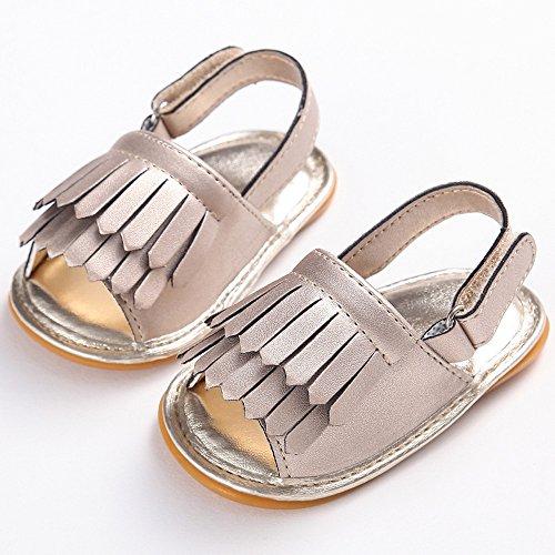 Amcool Baby Schuhe Neugeboren Infant Krippenschuhe Anti-slip Krabbelschuhe Sandalen Gold