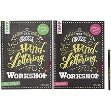 Der große Handlettering Workshop: 3 in 1 Mappe = 1 Anleitungsbuch + 1 Übungsbuch + 1 original Brushpen von edding