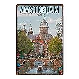 Taco Thursday Amsterdam Pintura de Hierro Cartel de Metal Vintage Cartel de Chapa Cartel de Pared Placa para hogar Dormitorio Garaje Dormitorio Cafetería
