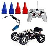 Kimruida Ferngesteuertes AutoSchwarz 1:32 Radio Fernbedienung RC RTR High Speed Racing LKW Auto Buggy Spielzeug