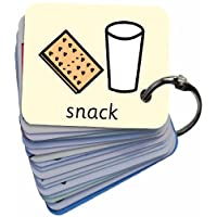 BSL for Kids Meals & Snacks Picture Exchange Communication Keyring (AAC / ASD) Visual Aid Resource