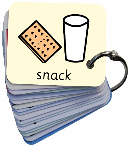 Meals & Snacks Picture Exchange Communication Keyring (AAC / ASD) Visual Aid Resource