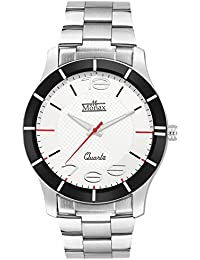 Monax White Dial Stainless Steel Chain Analog Watch For Men & Boys MM110