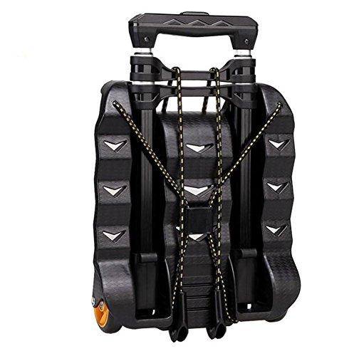 FFJTS Carretilla de equipaje de aluminio Ultra-Light Trolley suficientemente pequeña para poner mochilas