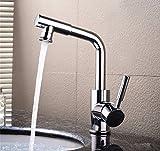 ETERNAL QUALITY Badezimmer Waschbecken Wasserhahn Messing Hahn Waschraum Mischer Mischbatterie Tippen Sie auf Das Waschbecken Waschtisch mit kaltem Wasser Hahn Waschbecken Badezimm